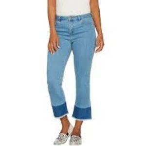 LOGO Lori Goldstein Mini Bootcut Jeans